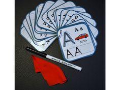 Mazací kartičky - písmena .