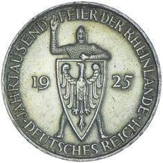 Weimarer Republik 1919 - 1933 5 Reichsmark 1925 D Silber Rheinlande zur 1.000 Jahrfeier