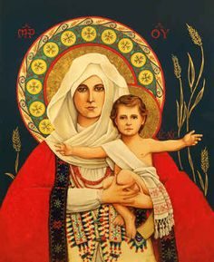 Holy Mother and Child by Joseph Holodook ~ icon
