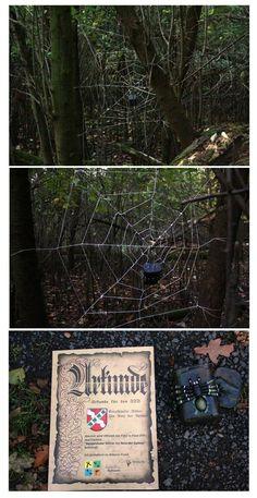 Geocache spiderweb. This is pretty sweet