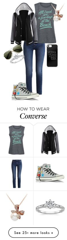 """Untitled #935"" by crystalrose-014 on Polyvore featuring Calvin Klein, Board Life and Converse"