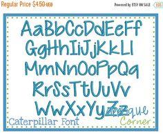 40% Off Sale Caterpillar Embroidery Font 1 by AppliqueCornerDesign