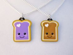 Peanut Butter and Jelly Best Friend Necklace.