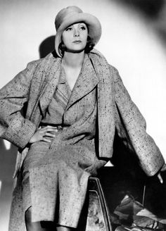 """Greta Garbo(18 September 1905 – 15 April 1990) top 5 of """"the greatest female stars of all time"""" the most famous Swedish actress and fashion icon in hollywwood, whose style strong influence on women fashion during 1930s. You can see an amazing sexy attactive beauty in menish clothes with a little make up."""