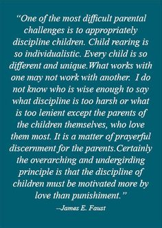 On disciplining children...Amen!!       *free* downloadable printable available.