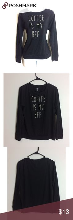 🖤Coffee is my BFF Graphic Long Sleeve Tee🖤 Love this shirt super cute, stylish and trendy! NWOT! PRICE IS NOT FIRM OFFERS ACCEPTED UPON REQUEST...😊 Measurements: Armpit to Armpit: Length:  This listing is BRAND NEW WITHOUT TAGS! Material: snooze button Tops Tees - Long Sleeve