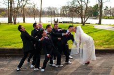 contemporary, stylish, bride, groom, groomsmen, posing, fun, ruth silver photography, ruthsilver.com