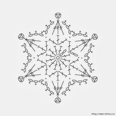 Снежинки крючком. Схемы (15) (600x600, 102Kb)