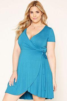 Plus Size Wrap Dress