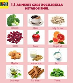 alimente care acclereaza metabolismul Fitness Diet, Health Fitness, Diet Recipes, Healthy Recipes, Metabolism, Healthy Lifestyle, Good Food, Food And Drink, Nutrition