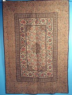 "A Persian Ghalemkar, c. 1890, 52"" x  75""<br /> March 24, 2004 - Session 1 - Lot 51 - $950"