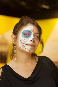 Face painting by Carmen Avila at the Museum's Day of the Dead party on Oct. 25, 2013.