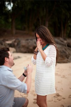 This planned photo shoot turned into a beautiful proposal on a private beach! She will certainly make one beautiful bride.