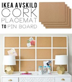 We love this clever use of AVSKILD cork placements found on Infarrantly Creative.