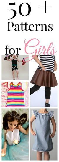 50+ Free Clothing Sewing Patterns for Girls | Your girls will be the coolest girls in school with these adorable free sewing patterns!