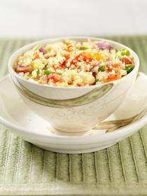 Verduras asadas y Ensalada de quinua