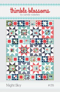 different sizes 4 patch stars 8 and 16 in blocks Image of Night Sky- pattern 178 PAPER pattern