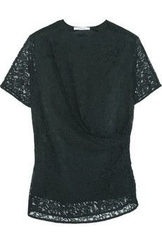 Carven Draped lace top | NET-A-PORTER