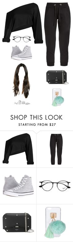 """""""Untitled #3185"""" by twerkinonmaz ❤ liked on Polyvore featuring Pepper & Mayne, Converse, Ray-Ban, Givenchy, Ashlyn'd and GUESS"""