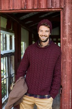 Herrenmütze aus Landlust Merino 180  #herrenmütze #landlust #lanagrossa #woolplace #mütze All Fashion, Cable Knit, Outfit, Men Sweater, Knitting, Sweaters, Pattern, Winter, Products