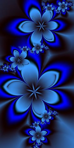 Silver and Blue Flowers made with ultra fractal This is a pink version of these flowers featured here blumen, Blue Wallpapers, Pretty Wallpapers, Wallpaper Backgrounds, Screen Wallpaper, Wallpaper Quotes, Iphone Backgrounds, Iphone Wallpapers, Butterfly Wallpaper, Galaxy Wallpaper