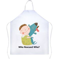 """""""Who Rescued Who"""" BBQ Apron"""