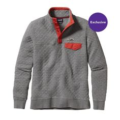 New this season—the heritage-inspired Patagonia Women's Organic Cotton Quilt Snap-T® Pullover offers everyday layering warmth. Check it out.