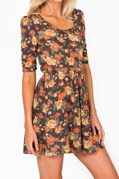 Casual floral dress. I love the style of the dress, but I want pink flowers instead, I have no idea where to find them though!!
