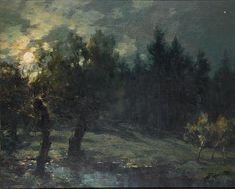 FRANCOIS-CHARLES CACHOUD (1866-1943)  Paysage nocturne
