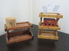 His and Her's Recycled / Upcycled Dresser Valets - Nice Wedding Gift - by RaysScraps, $50.00