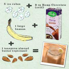 Chocolate Banana Delight - Super easy, tasty vegan chocolaty treat