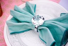 Engagement diamond napkin rings! for the Engagement Party