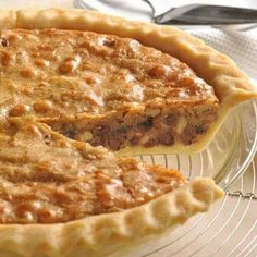 INGREDIENTS: 1 unbaked 9-inch (4-cup volume) deep-dish pie shell * 2 large eggs 1/2 cup all-purpose flour 1/2 cup granulated sugar 1/2 cup packed brown