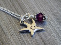 Starfish Necklace personalized bridesmaid by SheJustSaidYes, $16.00