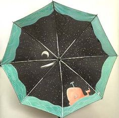 Starry Whale Brella - My favourite umbrella: living in a rainy country is more fun now.