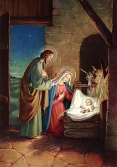 The Holy Family Nativity Christmas Nativity Scene, Christmas Art, Vintage Christmas, Nativity Scenes, Christmas Graphics, Xmas, Jesus Jose Y Maria, Birth Of Jesus Christ, Baby Jesus