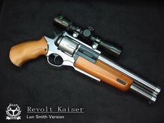 LUIGI-FRANCHI REVOLT KAISER 945eb P  -  +2  -  J  -  P  -  4D6/5D6+1 (.44 mag cased/30-06 cased)  -  6/1  -  1/1  -  VR The Safari 14 utilizes the same design as the 12 and 13, only with slight cosmetic alterations and rechambering.  The main gun is a a revolver chambered in .44 magnum, while the underbarrel is chambered in 30-06.  The gun is available in either wood or Matter carbon, and comes with a free removable telescopic sight.