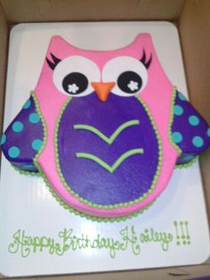 Owl baby shower cake It was very easy to do too Baby ideas