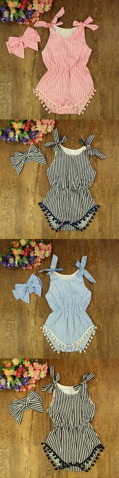 Striped Baby Romper Shorts Bubble Toddler Baby Jumpsuit Photography Props,Newborn Baby Clothing Set Summer Wear #P0510