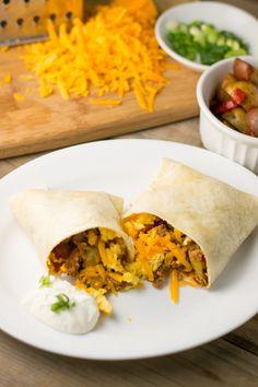 Breakfast Burrito on Pinterest | Breakfast burritos, Breakfast burrito ...