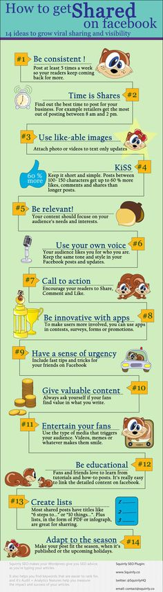 14 Seo tips for #facebook #Infographic