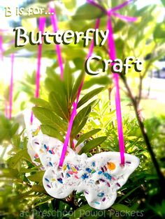 Preschool Powol Packets: B is for Butterfly Craft Bug Crafts, Nature Crafts, Crafts To Do, Easy Crafts, Crafts For Kids, Paper Crafts, Bug Activities, Craft Activities For Kids, Preschool Crafts