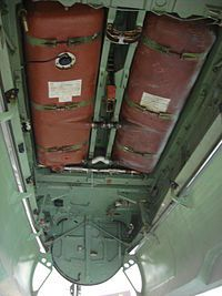 RAF de Havilland Mosquito- BFD - A view into the bomb bay showing the brick-red colored twin fuel tanks fitted into the fuselage. Air Force Aircraft, Ww2 Aircraft, Military Aircraft, De Havilland Mosquito, South African Air Force, Mosquitos, Flying Boat, Aircraft Photos, Ww2 Planes