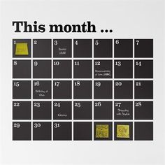 Calendar Wandtattoo - schwarz - Ferm Living