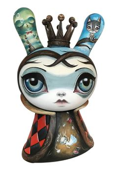 "SpankyStokes.com | Vinyl Toys, Art, Culture, & Everything Inbetween: ""Alice"" Mega Kidrobot Dunny custom by 64 Colors!!!"