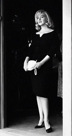 Beautiful black and white Marilyn