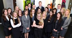 1st year trainee solicitors at Shoosmiths with Graduate Recruitment Manager Samantha Hope (2013)