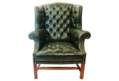 Chesterfield Tufted Leather Chair on OneKingsLane.com