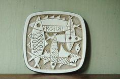 mid century danish ceramics | RESERVED Danish Modern Ceramic Fish Trivet - Mid Century Mordenist Art ...