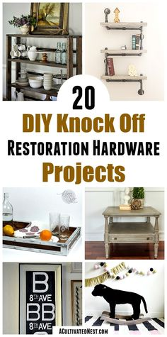 Whether you call them knock offs or copycat decor, these 20 Restoration Hardware inspired DIY projects are frugal ways to change your home's decor! Small decor and large furniture projects included! Diy House Projects, Furniture Projects, Diy Furniture, Home Improvement Financing, Knock Off Decor, Affordable Home Decor, Home Hardware, Diy Pillows, Large Furniture